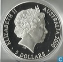 "Australië 5 dollars 2000 (PROOF) ""Sydney Opera House"""