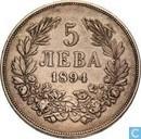 Bulgarien 5 Leva 1894