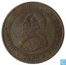 Papal States 1 / 2 Soldo 1867 R