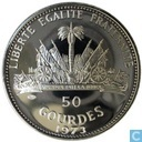 "Haiti 50 Gourde 1973 (PROOF) ""1974 World Soccer Championship Games"""