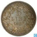 Kirchlichere Staat 5 lire 1867 R