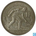 Luxembourg 1 franc 1928