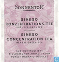 Tea bags and Tea labels - Sonnentor® -  8 GINKGO KONZENTRATIONS-TEE