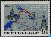 Carte du Canal Volga-Baltique