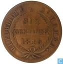 Haïti 6 centimes 1846