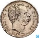 Italie 5 lire 1878 (Umberto I)