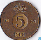 Schweden 5 Öre 1962