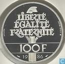 "France 100 francs 1986 (Piedfort) ""Centenary Statue of Liberty 1886 - 1986"""