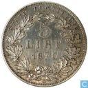 5 lira Papal States 1870 R