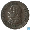 Papal States 1 soldo 1867 (small year)