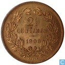 Luxembourg 2,5 centimes 1908