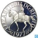 """Vereinigtes Königreich 25 neue Pence 1977 (Silber) """"25. Jahrestag des Beitritts oder Elizabeth II"""""""
