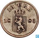 Norwegen 10 Øre 1880