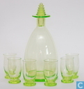 Glas / Kristall - Kristalunie - Brandy Likeurstel vert-chine