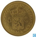 Coins - the Netherlands - Netherlands 5 gulden 1912